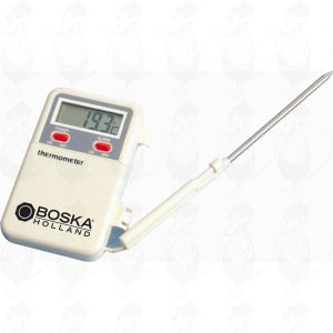 Digital thermometer with temperature alarm, flex 600 mm