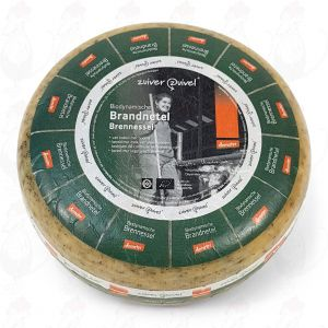 Nettle Gouda Organic Biodynamic cheese - Demeter | Entire cheese 5 kilo / 11 lbs