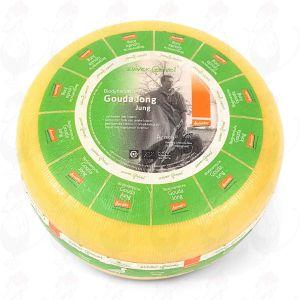 Young Gouda Organic Biodynamic cheese - Demeter   Entire cheese 12 kilo / 26.4 lbs