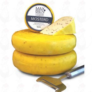 Vegan Mustard Cheese  | Max Bien | Wheel 1,2 Kilo - 2.64 lbs
