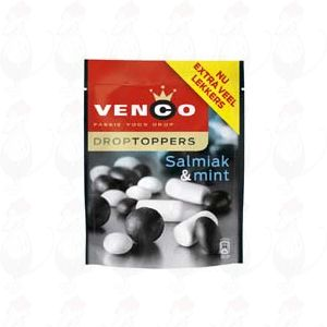 Venco Lakritz Droptoppers Salmiak & mint 287 grammi