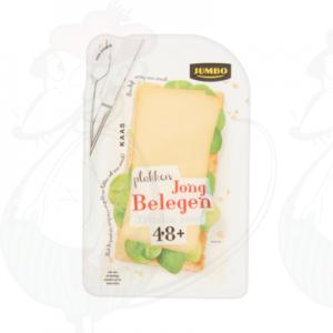 Huismerk Jong Belegen Minder Zout Plakken Kaas 48+ 190g