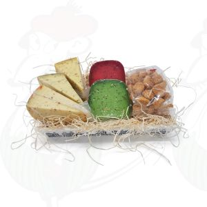 Herb Cheese gift wooden basket