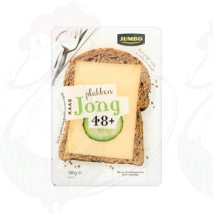 Sliced Gouda cheese Young 48+ | 190 grams in slices