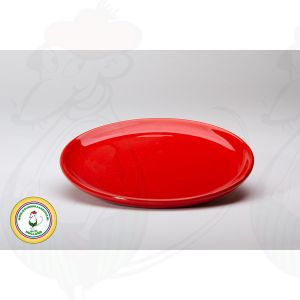 Cheese fondue plate - Red