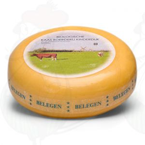 Formaggio biologico stagionato di Gouda (10-15 settimane) | Qualità Premium | Formaggio intero 5,4 chilo