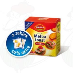 Melba Toast Naturel Rondjes - Van der Meulen - 110 grammi